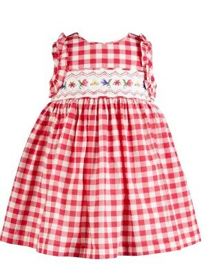 Bonnie Baby Girl/'s 2-Piece Floral Smocked Fit /& Flare Dress Set-Size-18M or 24M