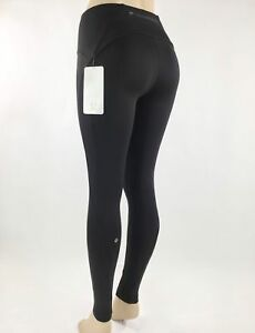 139b644e2f37a NWT NEW Lululemon Fast As Fleece Tight Black Brushed Interior Tech ...