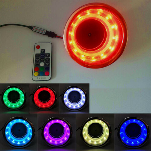 4X Cup Drink Holder 14 LED w// Remote RGB Lights for Marine Boat Stainless Steel