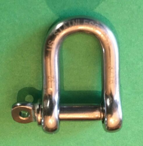 5mm Marine Grade Dee Stainless Steel 316 Forged D Shackle 3//16/""