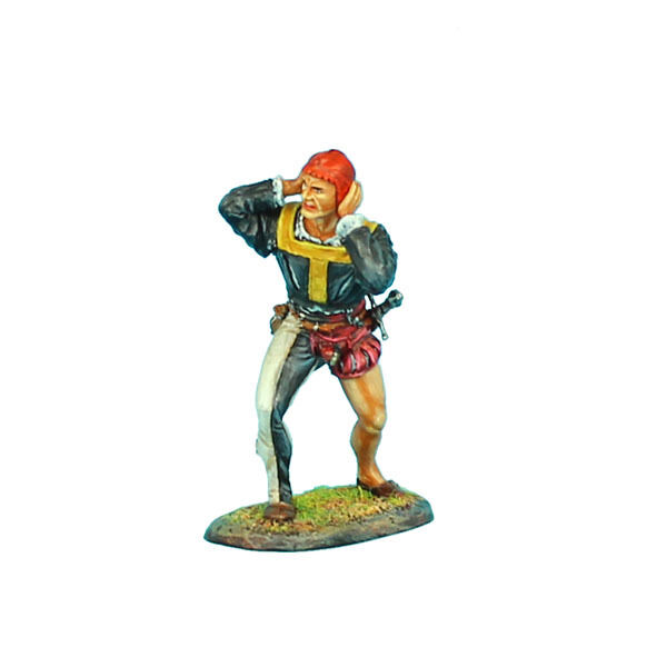 REN026 Landsknecht Artillery Gunner Covering Ears by First Legion