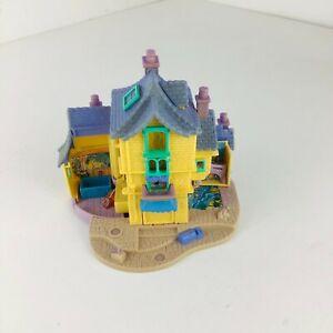 Vintage-Polly-Pocket-Maison-Bluebird-1996-Aristochats-Maison-jaune-violet-toit