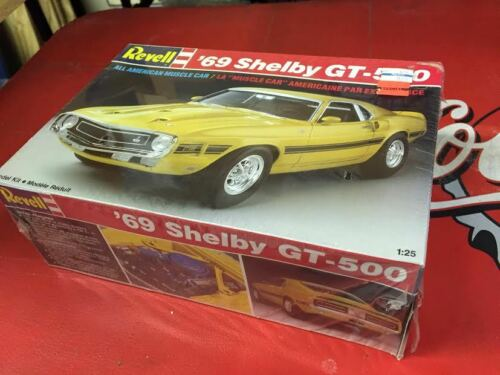 RARE UNBUILT VINTAGE  1//24TH 1969 CAROLL SHELBY GT500 MUSTANG  1ST ISSUE