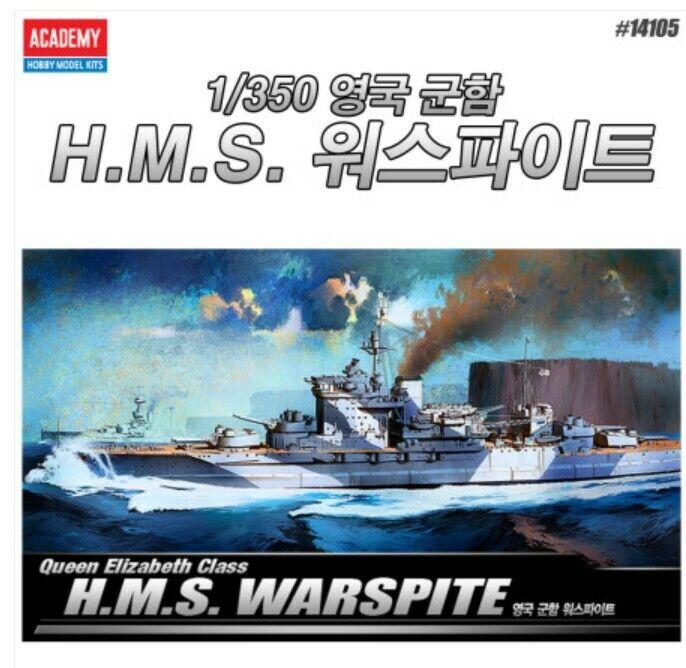 ACADEMY Figur 1  350 skala USN drottning Elizabeth Klass H.M.S Wkonströds Warship Pre