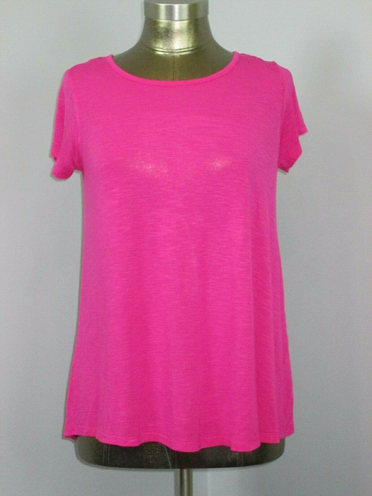 NWOT St Johns Bay Active Womens Size S (36) Pink Short Sleeve Shirt 317-18490