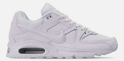NIKE AIR MAX COMMAND MENs LEATHER CASUAL WHITE METALLIC SILVER AUTHENTIC NEW | eBay