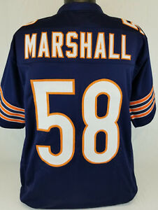Details about Wilber Marshall Unsigned Custom Sewn Blue Football Jersey Size - L, XL, 2XL