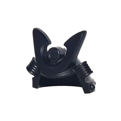 LEGO Headgear Helmet Samurai Kabuto w// Large Curved Crest Minifig Black