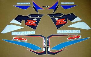 GSX-R 600 SRAD 1998 full decals sticker graphics kit set autocollants adhesives