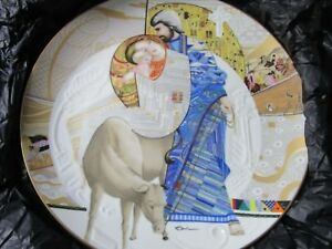 BIBLICAL-MOTHERS-EVA-LICEA-COLLECTOR-PLATE-034-MARY-AND-JESUS-034-NIB-4