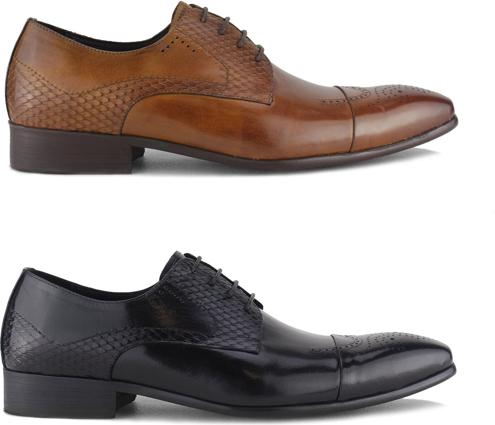 Blakeseys WYVERN Mens Leather Reptile Lace Up Up Up Formal Evening Smart Brogue schuhe f3662f