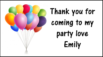 Hot Air Balloon Sticker Labels for Party Bag Sweet Cones