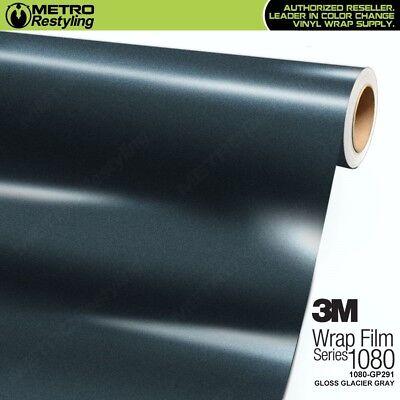 3M 1080 GP291 GLOSS GLACIER GRAY Vinyl Vehicle Car Wrap Decal Film Sheet Sticker