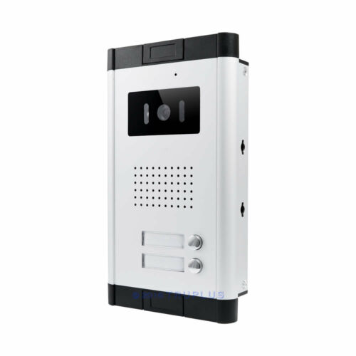 4.3/'/' Video Intercom with Handset Monitor /& 2Apartment Entry Communal Door Bell