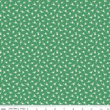 1/2 Yard Penny Rose Cotton Sewing Quilting Fabric APPLE FARM Apple Blossom GREEN