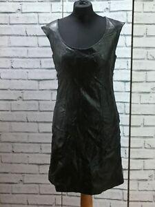 Vintage-90s-Black-Genuine-Leather-Wiggle-Dress-M