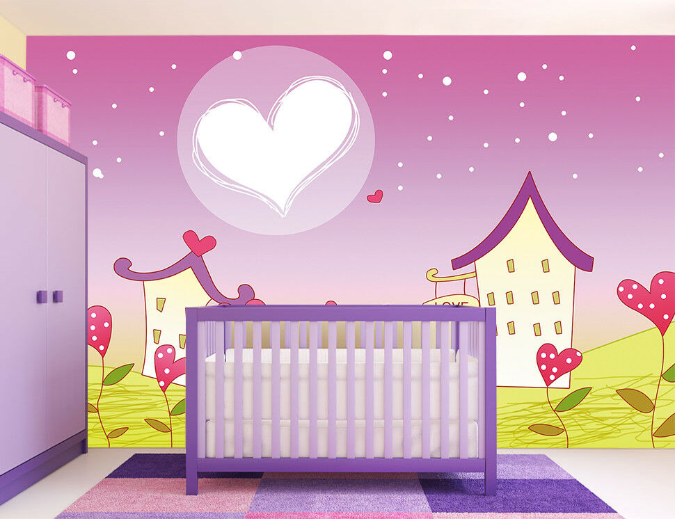 3D Romantisches Haus Mädchen 72 Tapete Wandgemälde Tapeten Bild Familie DE Jenny | Ausreichende Versorgung  | Wonderful  | Ausgezeichnet (in) Qualität