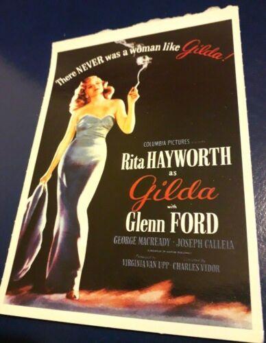 Rita Hayworth Glenn Ford  cornice facoltativa 1946 POSTER LOCANDINA Gilda