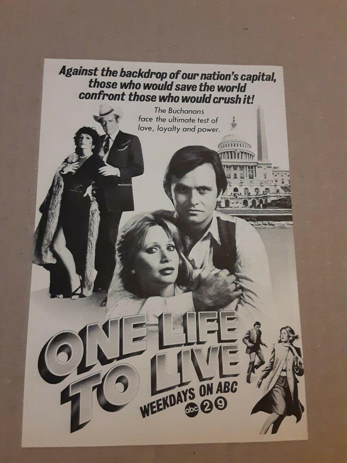 Image 1 - 1982 One Life To Live Tv Magazine Ad Soap Opera