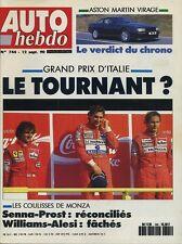 AUTO HEBDO n°744 du 12 Septembre 1990 GP ITALIE ASTON MARTIN VIRAGE