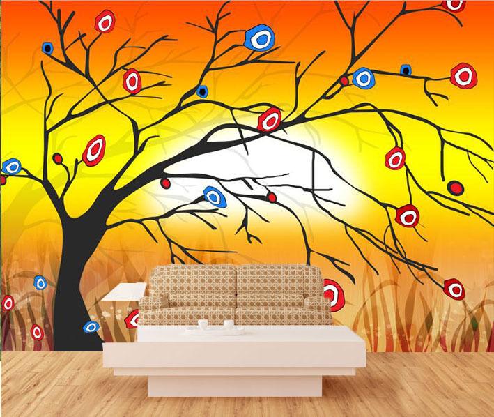 3D Blühende Bäume 73 Fototapeten Wandbild Fototapete Bild Tapete Familie Kinder