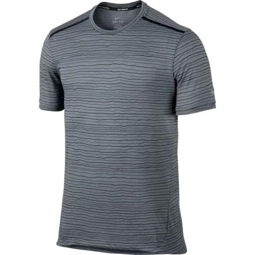 2cffcc18 Nike Dri Fit Tailwind Running Shirt Gray Stripe Mens Sz Large 872018 065  for sale online | eBay
