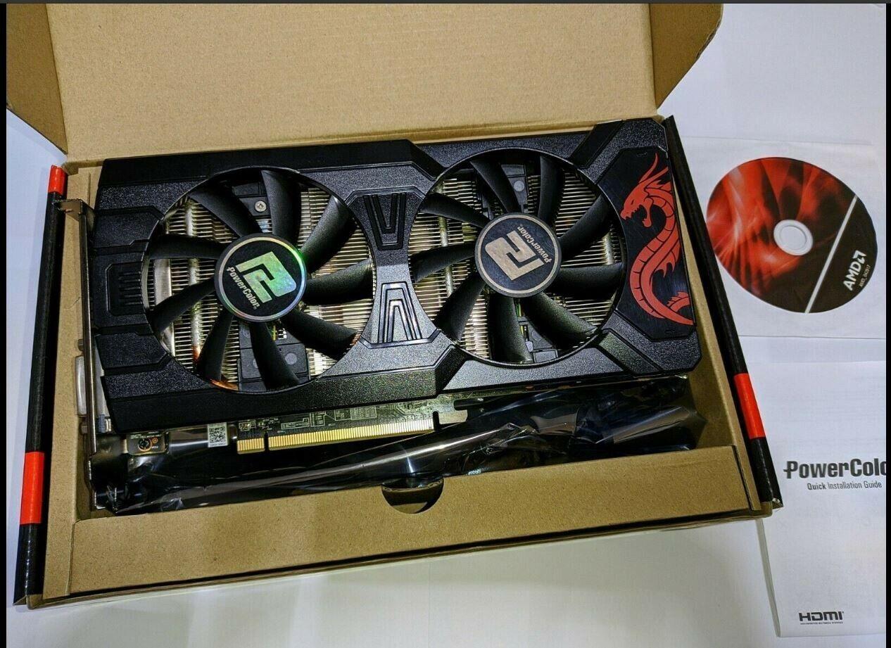 PowerColor AMD ATI Radeon RX 570 Red Dragon 4 GB DDR5 Graphics Card with box