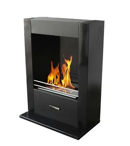 Ezy-Flame-Icon-Black-Freestanding-or-Wall-Mount-EZR500T