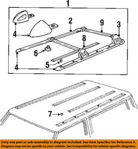 Jeep-CHRYSLER-OEM-Cherokee-Roof-Rack-Rail-Luggage-Carrier-End-Cap-Nut-6503910