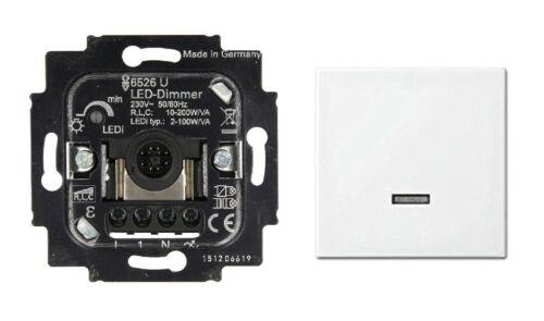 2-100 Watt Balance SI Bedienelement Tastdimmer 6526U inkl Busch Jäger LED