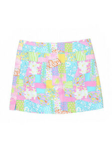 Women-Lilly-Pulitzer-Patchwork-Loco-Patch-Georgie-Reversible-Wrap-Skirt-Size-10