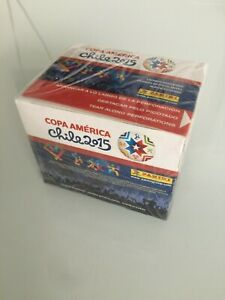 Panini-Copa-America-Chile-2015-50-Packs-Box-5-stickers-per-pack-from-Italy