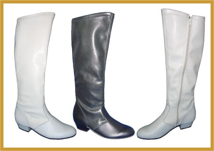 IWA 2050 Leder Majorette Garde Tanz Stiefel mit mit mit Reißverschluss  schwarz o. weiß 510b04