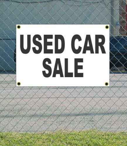 2x3 USED CAR SALE Black /& White Banner Sign NEW Discount Size /& Price FREE SHIP