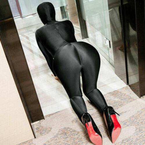Women Men Lycra Zentai Costume Zipper Bodysuit Catsuit Unitard Jumpsuit Overall