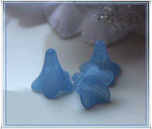 25-100 Acryl Blüten Perlen Blume gefrostet Farbmix 25 mm Schmuck basteln DIY