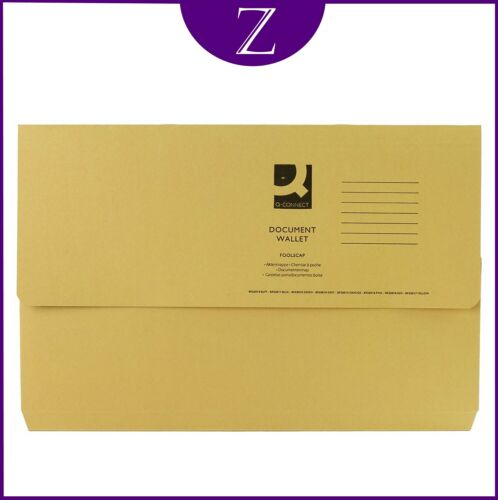 DOCUMENT WALLETS FOOLSCAP STRONG 285GSM RECYCLED IN VARIOUS COLOURS