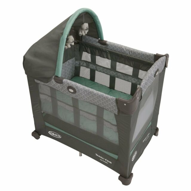 cribs amazon the play pack go playard graco baby on slp n com green
