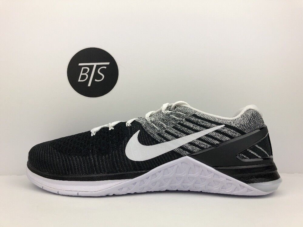 "Men's Nike Metcon DSX Flyknit ""Oreo"" Size-8 Black White Grey (852930 011)"