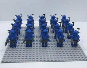 20x-Blue-Mandalorian-Troopers-Mini-Figures-LEGO-STAR-WARS-Compatible