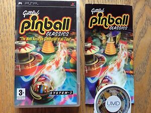 Gottlieb Pinball Classics Psp Game! Complete! Look At My Other Games!