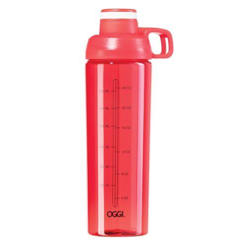 Oggi 32oz Tritan Mixing Sport Bottle with Flip-Open Top-Red