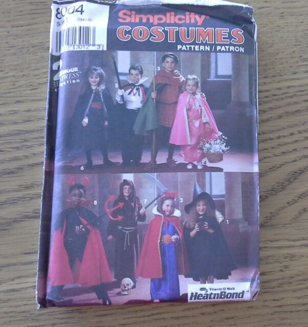 2e3c07d39 cape robe tunic witch costume SIMPLICITY 8004 multi size sewing pattern  UNCUT