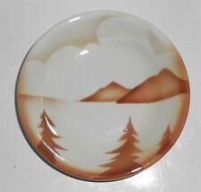 Jackson China Restaurant Brown Airbrushed Mountains/Lake/Trees Sauce/Fruit Bowl