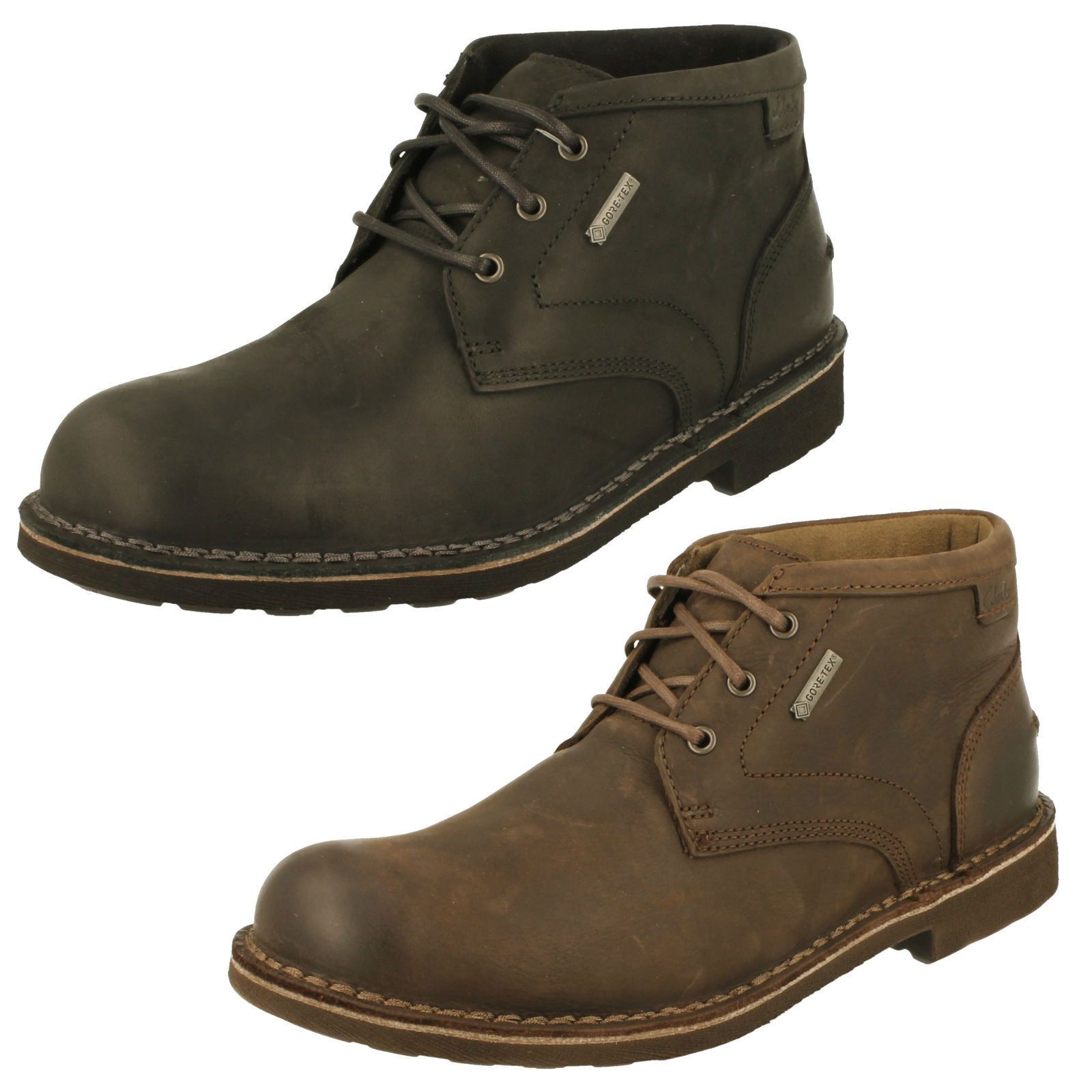 Men's Clarks Casual Gore-Tex Lined  Boots - Lawes Mid GTX
