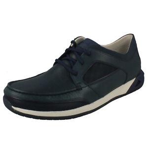 Ormand Cordones Hombre Marino Azul Sail Zapatos Clarks Cuero Barco Informal wUUqTfx