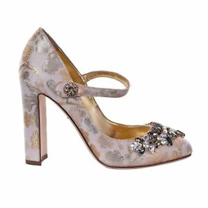 Dolce Us Bnib 4 Janes Uk Scarpe Brocade Mary 35 5 Nuovo 2 Crystal Eu Pump Gabbana HxBqw51