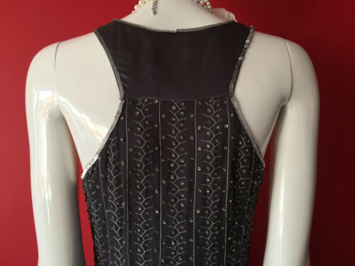 2084a1757fa8 9 of 12 Oasis Vintage Grey Flapper 1920s Gatsby Beaded Sequin Dress Size 14  EUR 40 BNWT