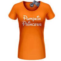 Pumpkin Princess Tshirt Womens Ladies Girls Halloween Costume Top T Shirt 440