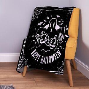 Black-Happy-Halloween-Design-Soft-Fleece-Throw-Blanket